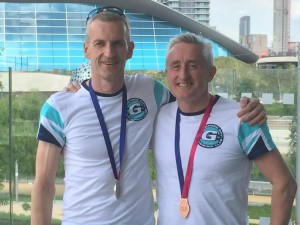 MikeH and DavidB 50m Medals